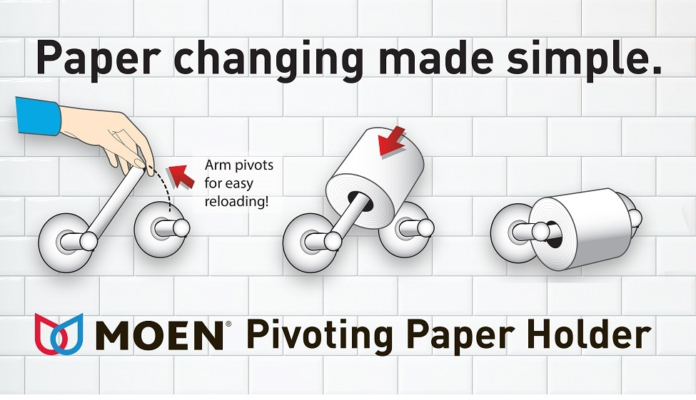 Shop The Home Depot for MOEN pivoting toilet paper