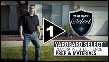 How to Install Decorative Steel Fence Part One Parts and Materials
