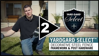 How to Install Decorative Steel Fence Part Two Framework and Post Hardware
