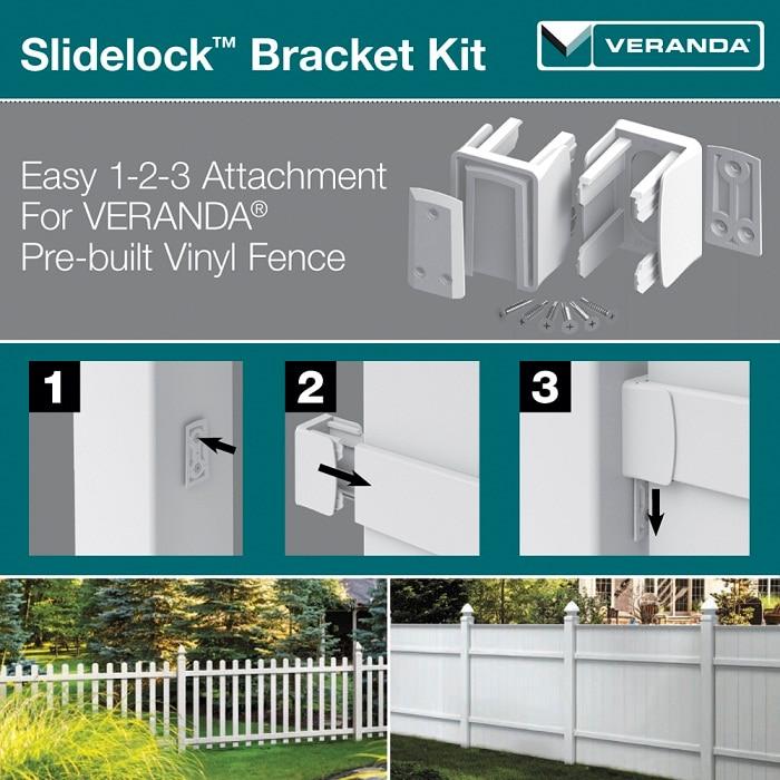 veranda vinyl fence slide lock bracket