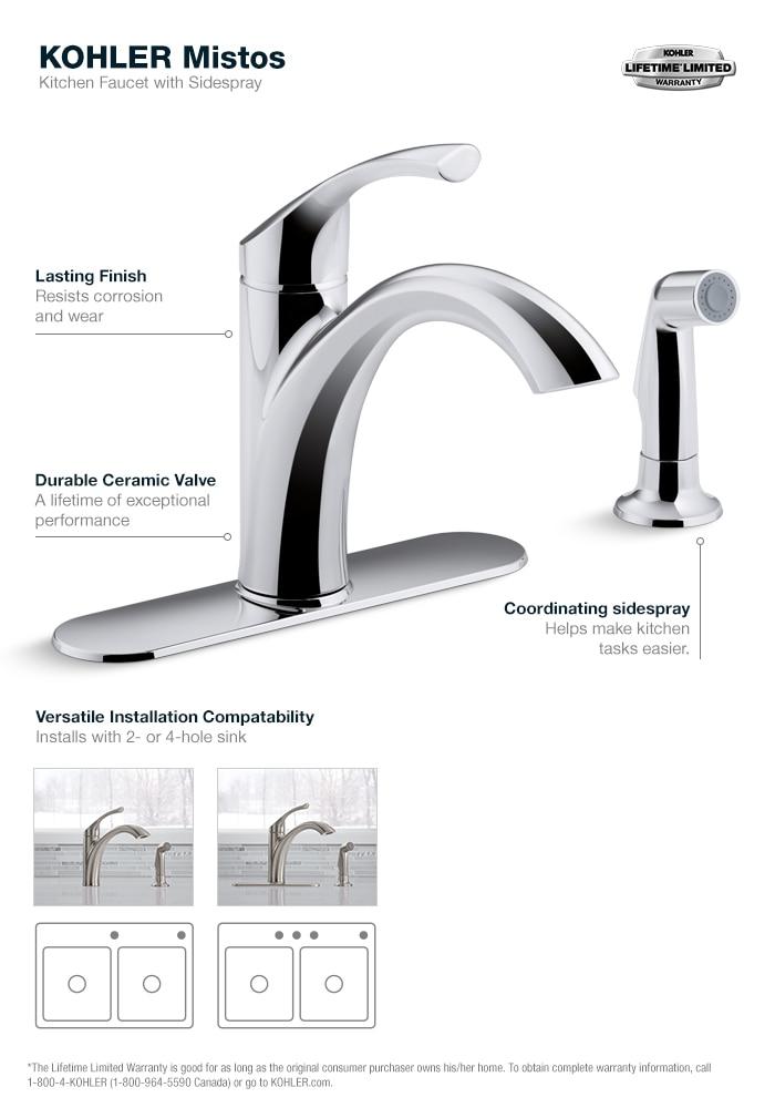 Mistos Kitchen Faucet in Stainless Steel