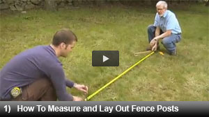 How to Measure and Lay Out Fence Posts