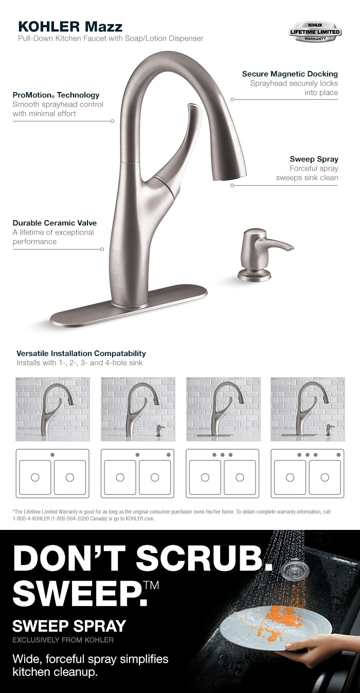 Mazz Pull-Down Kitchen Faucet in Vibrant Stainless