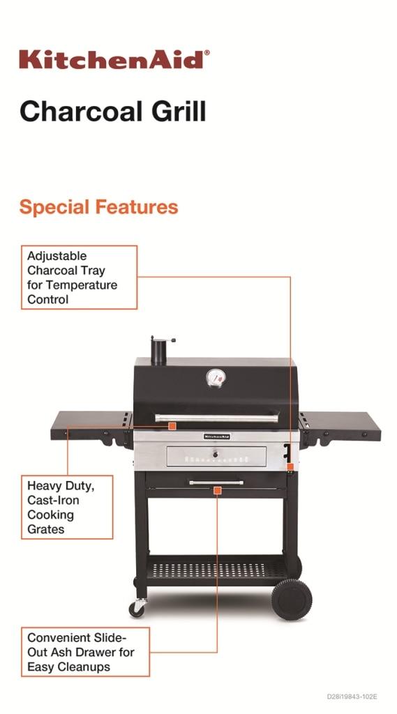 KitchenAid Cart-Style Charcoal Grill