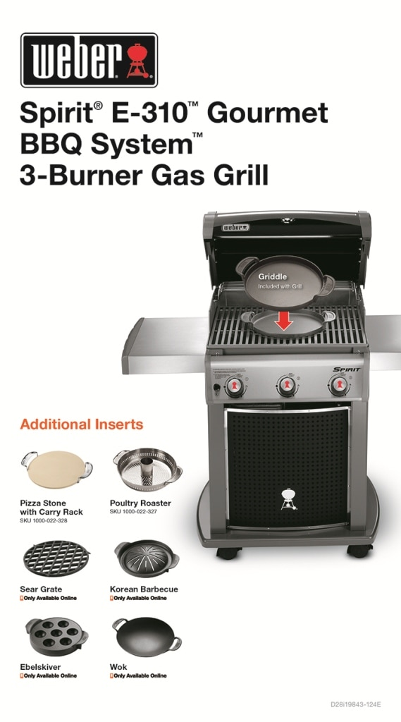 Weber Spirit E-310 3-Burner Propane Gas Grill